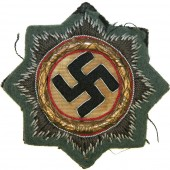 German cross in gold 1941. Cloth Feldgrau wool for Wehrmacht Heer