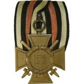 Hindenburg cross with swords-ICM marked on ribbon bar