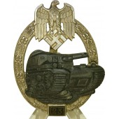 Tank assault badge for 25 attacks-Panzerkampfabzeichen mit Einsatzzahl 25, unmarked JFS