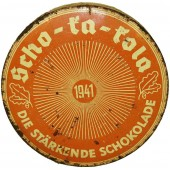 Wehrmacht  Packung Scho-ka-kola chocolate can dated 1941