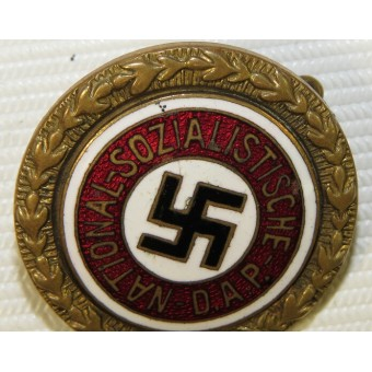 NSDAP Golden party badge 24 mm by Jos.FUESS small version. Espenlaub militaria