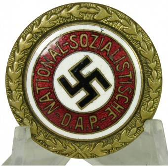 NSDAP Golden party badge 24 mm by Jos.FUESS small version