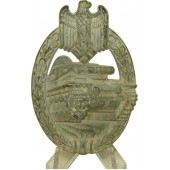 Silver class Panzerkampfabzeichen - Tank assault badge decoration, oxidazed