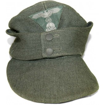 Waffen SS, Dachau concentration camp made M 43 Feldmutze, dated 1945 year. Espenlaub militaria