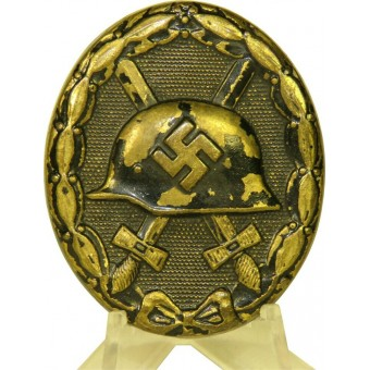 3rd Reich wound badge in black, 1939, brass. Espenlaub militaria
