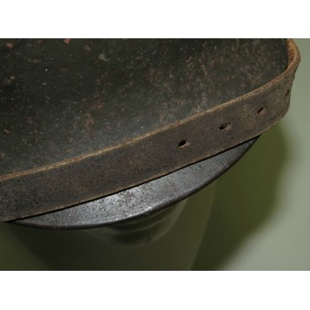 Wehrmacht Heer M35 helmet, late type issue, single decal ET62. Espenlaub militaria