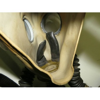 Gasmask BS with ShM1 rubber mask, filter MO-2 and carrying bag. Espenlaub militaria