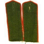 RKKA artillery shoulder straps for overcoat, private rank, M1943
