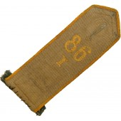 Early pre 1936 Hitlerjugend shoulder strap Bann 86, yellow piped
