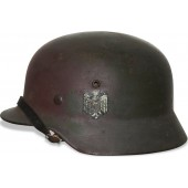 German M 35 single decal camouflaged helmet Q64