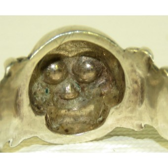 German traditional skull ring, sterling silver. Espenlaub militaria