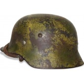 Luftwaffe M 35 helmet in Normandy camo. Ex-double decal.