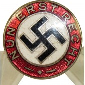 NSDAP and Hitler sympathizer badge, Nun Erst - Recht