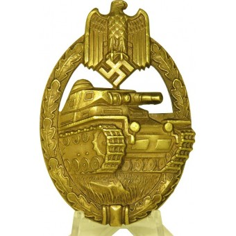 Silver Tank Assault Badge by Karl Wurster.. Espenlaub militaria