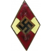 Unusual Hitler Jugend HJ badge.