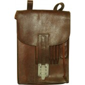 Waffen SS or Luftwaffe brown leather commander's mapcase