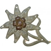 Zinc made Edelweiss badge for Gebirgsjäger hat