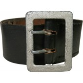 3rd Reich officer's black leather belt with buckle, 105 cm