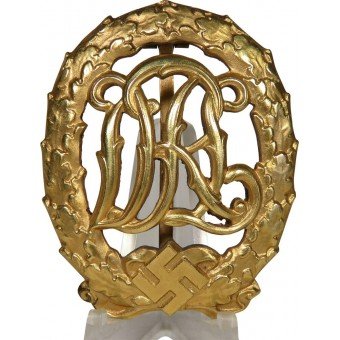 DRL sport badge in gold by Wernstein, Jena. Espenlaub militaria