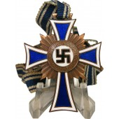 German Mother Cross in bronze with ribbon
