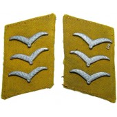 Luftwaffe flying personnel or paratroopers collar tabs for obergefreiter
