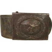 WW2 Combat Luftwaffe leather belt with steel buckle from maker - Ebberg & Co., Lüdenscheid