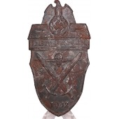 Demyansk sleeve shield 1942. Steel. Battlefield found
