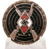 HJ Shooting Badge - Sniper's badge in silver, marked RZM M1/102