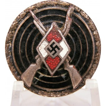 HJ Shooting Badge - Snipers badge in silver, marked RZM M1/102. Espenlaub militaria