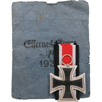 Iron Cross Ek2 1939 Julius Maurer Oberstein, with packet. Espenlaub militaria