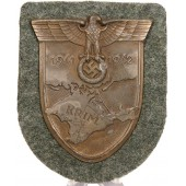 """Krim / Crimea 1941-1942"" shield. Zinc in bronzing"