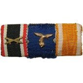 Ribbon bar for the KVK w/swords, service in WH, Westwall