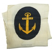 Kriegsmarine NCO's anchor BeVo woven badge for sports uniforms