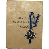 Cross of Honor of the German Mother in Bronze with envelope. Donner.