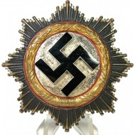 "German Cross in gold-C.F. Zimmermann, marked ""20"""