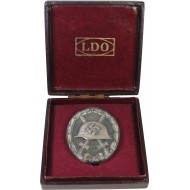 Wound badge in Silver 1939 LDO L/11 with case