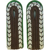 3rd reich Wachtmeister of OrPo slip-on shoulder boards