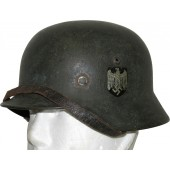 M 35 Wehrmacht Heer double decal helmet in field rough camo