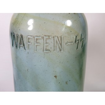 Waffen SS mineral water glass bottle. Espenlaub militaria