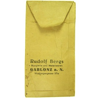 Award envelope factory Ruolf Bergs. Espenlaub militaria