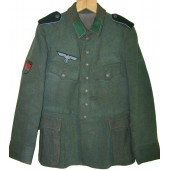 Dutch retailored tunic for Wehrmacht with Turkistan volunteer insignia