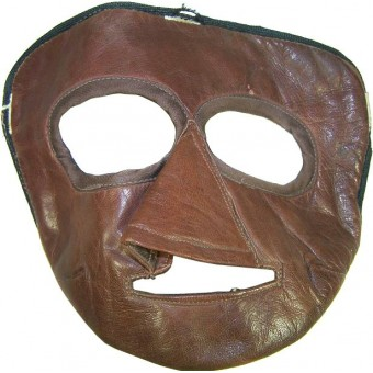 Pre war Soviet flyers leather face mask marked 194?. Espenlaub militaria