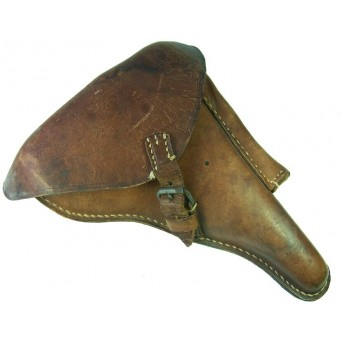 WW1 , P08 pistol brown leather holster. Espenlaub militaria
