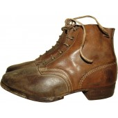 German Wehrmacht Heer or Luftwaffe brown ankle shoes