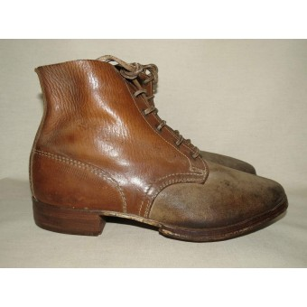 German Wehrmacht Heer or Luftwaffe brown ankle shoes. Espenlaub militaria