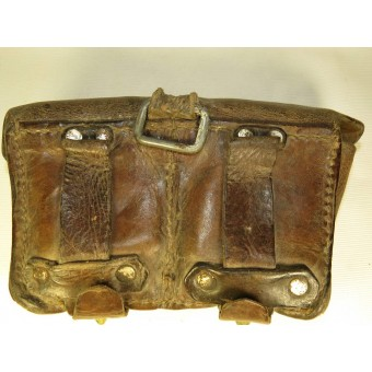 Soviet Russian M 38 Mosin rifle leather ammo pouch. Espenlaub militaria