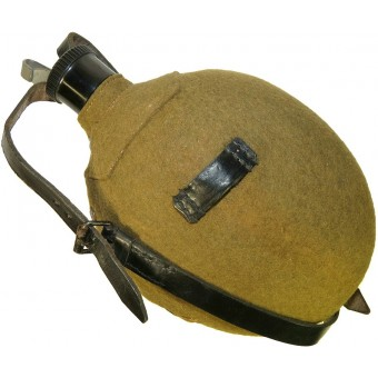 1 Liter Wehrmacht, Luftwaffe or Waffen SS canteen for medical or mountain troops. Espenlaub militaria