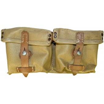 Artificial leather/ oilcloth ros 1944 dated, minty mag pouch for G43/K43 (Karabiner 43). Espenlaub militaria
