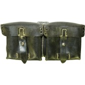 Black leather ammo pouch for G 43 Walther rifle