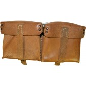 Brown leather ammo pouch for G 43 Walther magazine pouch ros 1944 marked